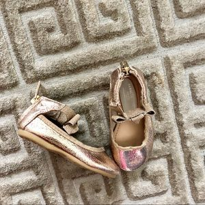 Kenneth Cole Reaction Rose Metallic Flats